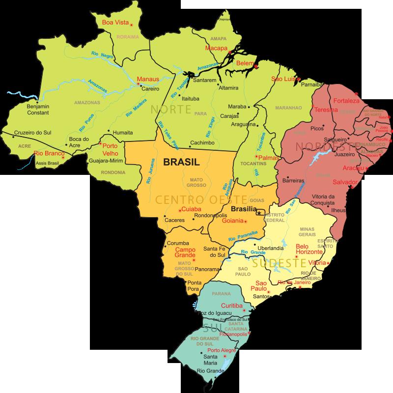 mapa brasil por regiões