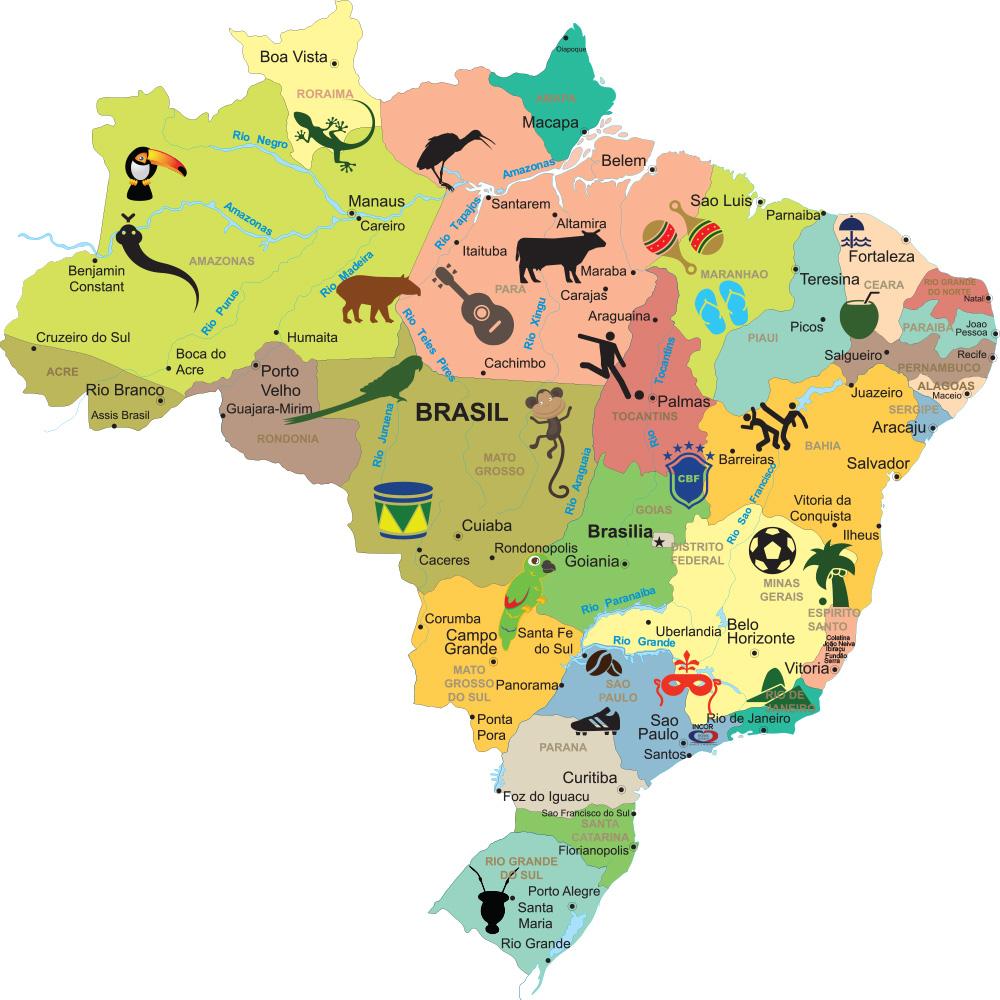 mapa brasil infantil