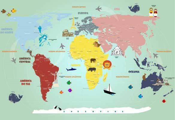 Mapa Mundi Infantil 18-A1