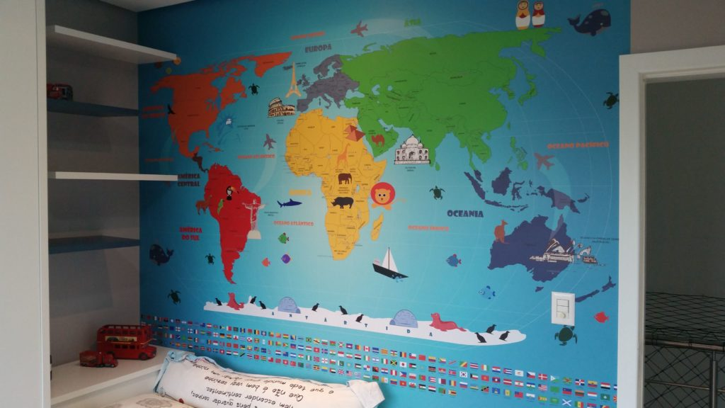 mapa mundi infantil 18-B2 aplicação
