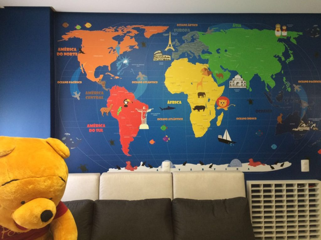 mapa mundi infantil-18-C aplicado na parede