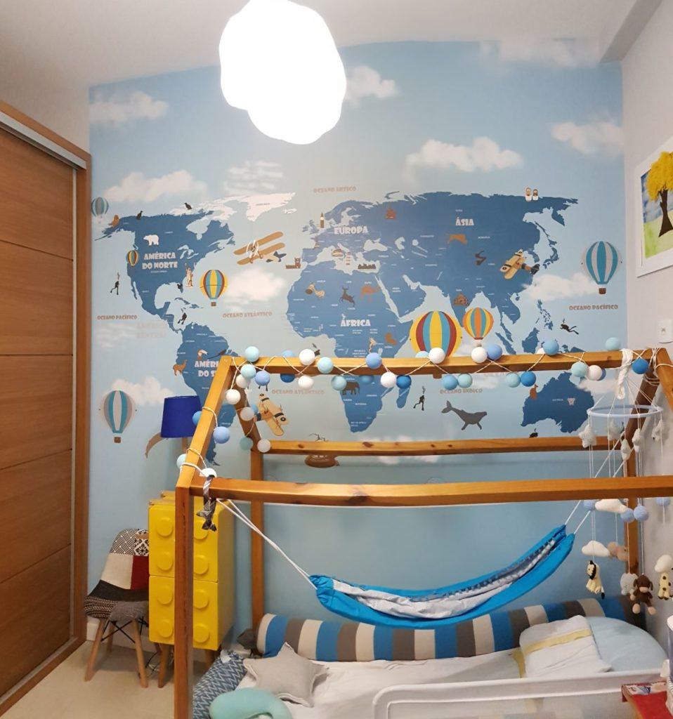 mapa mundi infantil 18-D4 personalizado