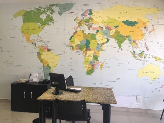 decoração para viajantes com mapa mundi 06-A1