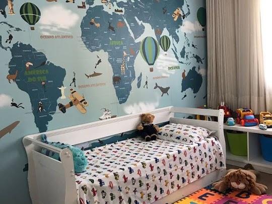 decoração para viajantes com mapa mundi 18-D7