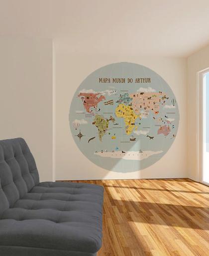 Aplicação Mapa Mundi Redondo