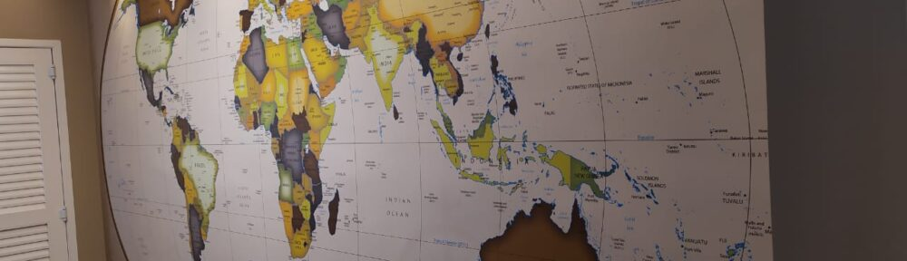 Mapa Mundi National-Geographic Brasil aplicado