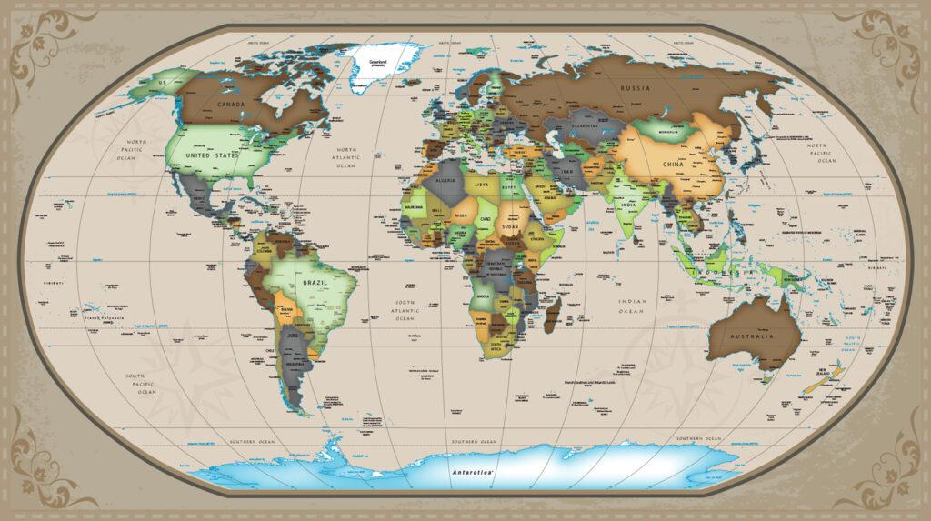 Mapa Politico Mundo National Geografic Brasil 2020