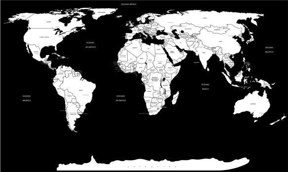 mapa mundi preto e branco mapa mundi preto e branco   completo nome dos países e capitais mapa mundi preto e branco