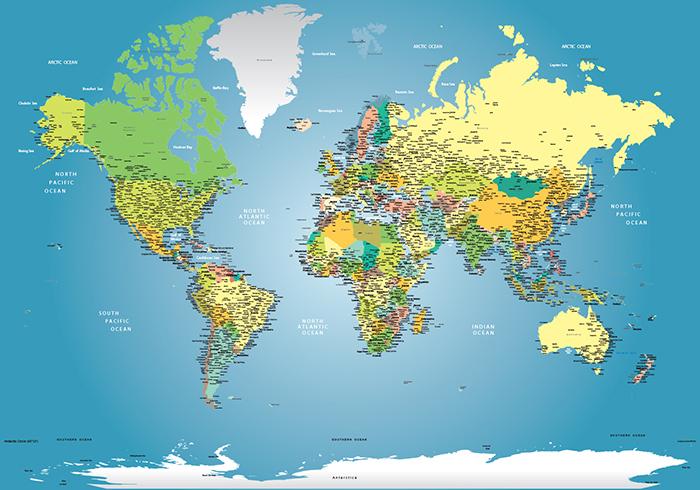 papel de parede mapa mundi decoração sob medida