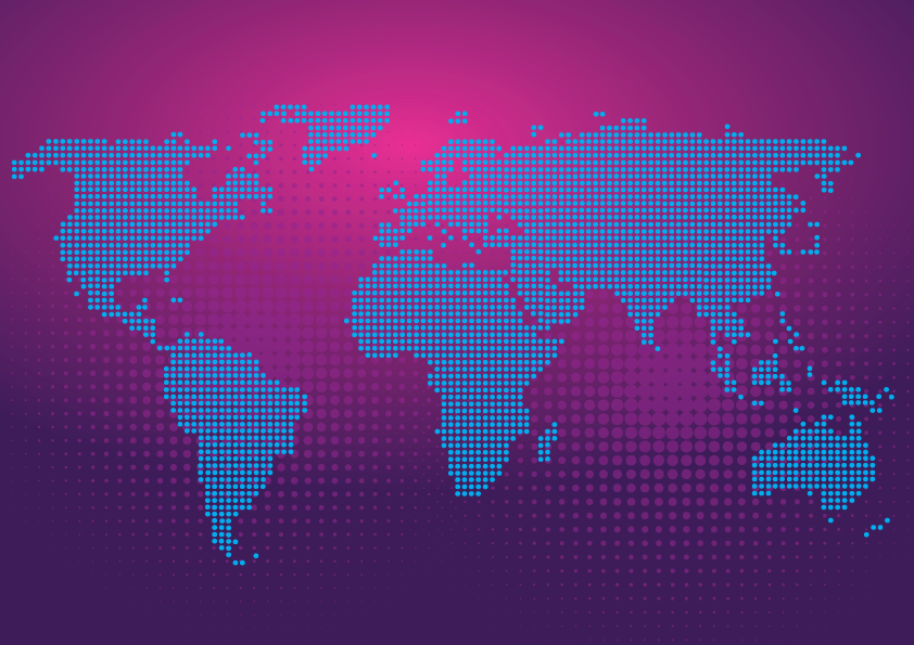 Mapa Mundi Papel de Parede Moderno