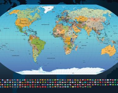 Papel de parede mapa mundi para escritório ou onde imaginar!