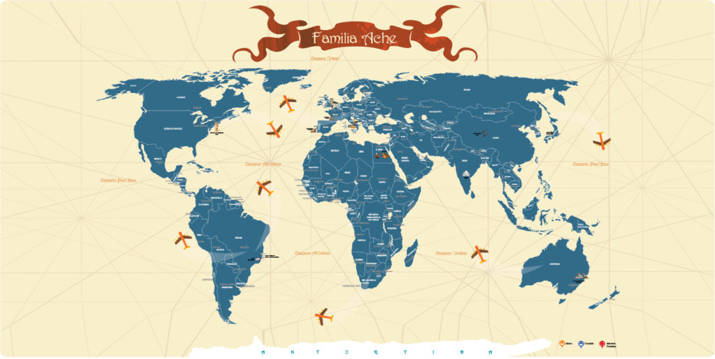 Mapa Mundi para marcar modelo 12A