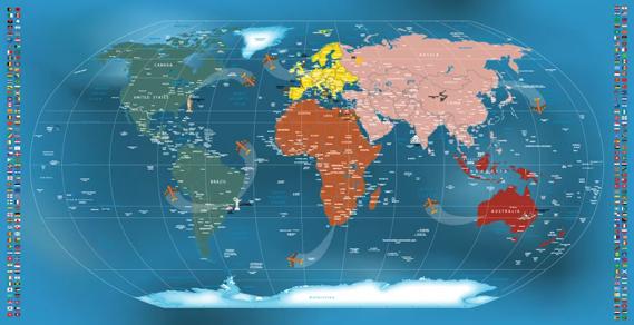 Artesanato Garrafa Pet Para O Natal ~ Mapa Mundi Papel de Parede Adesivo Decorativo