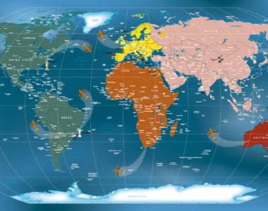 Mapa Mundi Papel de Parede Adesivo Decorativo. Decore e inove!