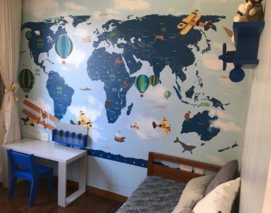 Papel de Parede Mapa Mundi, feito exclusivamente para você!