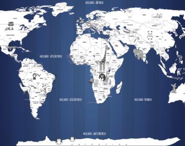 Papel de Parede Mapa Mundi para quarto de Bebê, um modelo infantil super lindo!