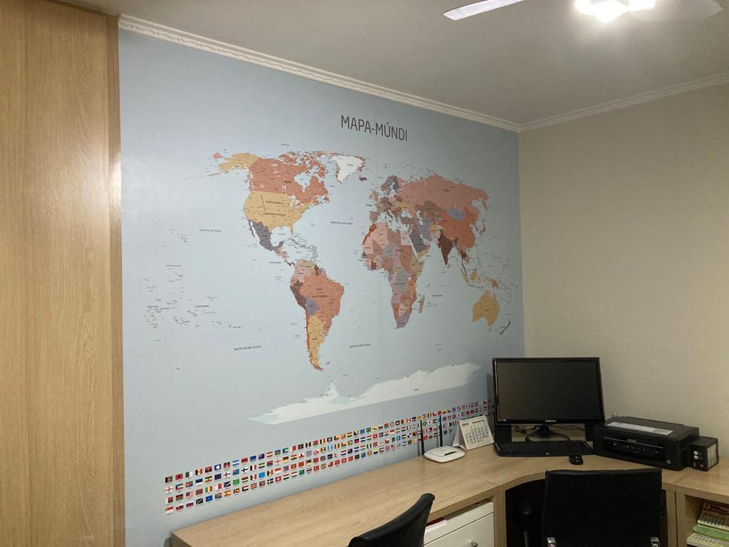Papel de Parede Mapa Mundi modelo 24-A3 aplicado, imagem 2.