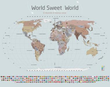 Papel de Parede Mapa Mundi para marcar lugares