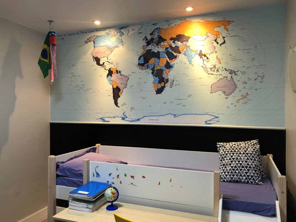 papel de parede mapa mundi decorativo modelo 22-A4